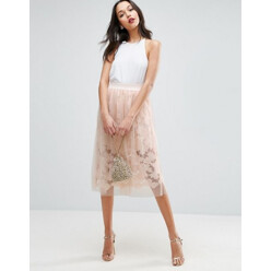 Lace Prom Skirt With Tulle Overlay