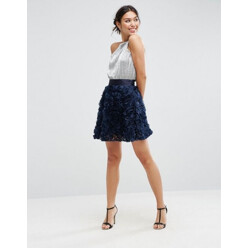 Prom Skirt With Rose Corsage