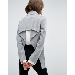 Mini Hounds Tooth Open Back Blazer