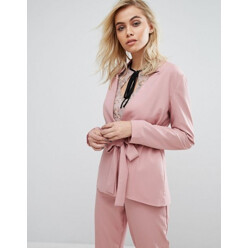 Blazer With Tie Front Co-Ord
