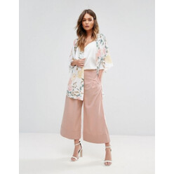 Turn Up Culotte Trousers