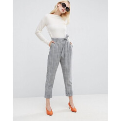 Peg Trousers In Check