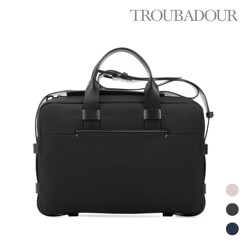 Fabric + Leather Briefcase