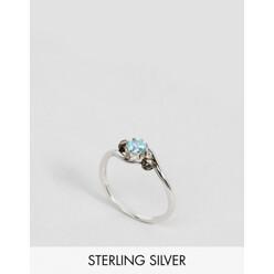 Rose Sterling Silver Amore Sapphire Gemstone Ring