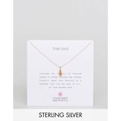 Dogeared Gold Plated Free Bird Open Feather Remind