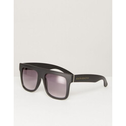 Oversized Shield Flat Top Sunglasses With Gradient