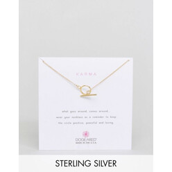 Dogeared Gold Plated Karma Toggle Reminder Necklac