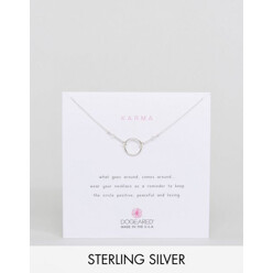 Dogeared Sterling Silver Karma Necklace