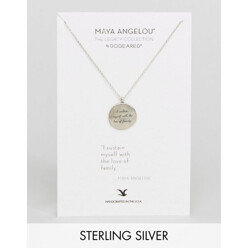 Dogeared Maya Angelou Quote Circle Pendant Necklac