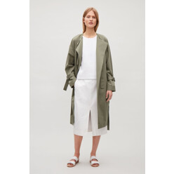 Unstructured Coat With Cuff Straps