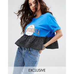 Inspired Varsity T-Shirt With Contrast Frill
