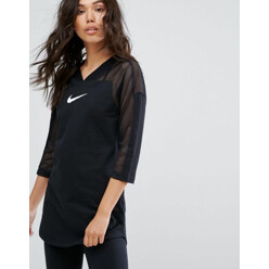 Longline Top With Mesh Panel Insert