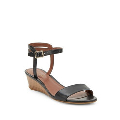 Open-Toe Ankle-Buckle Wedge Sandals