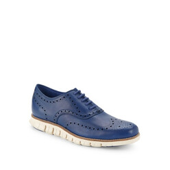 Wingtip-Toe Lace-Up Sneakers