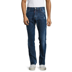 Faded Cotton-Blend Jeans
