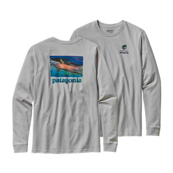 파타고니아 Long-Sleeve World Trout Slurped Cotton