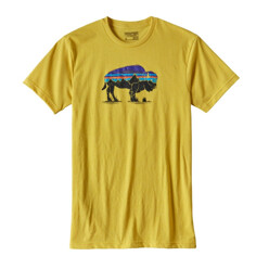 파타고니아 Fitz Roy Bison Cotton/Poly T-Shirt