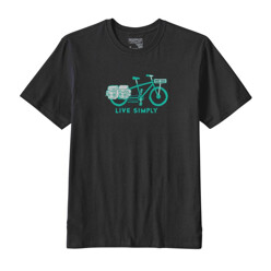 파타고니아 Live Simply Cargo Bike Cotton T-Shirt