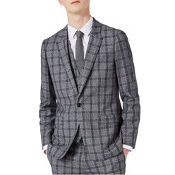 Skinny Fit Plaid Suit Jacket