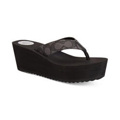 [더블적립금]Jen Wedge Thong Sandals