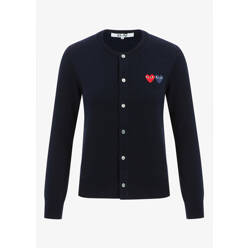 Comme Des Garcons Play Double Heart Patch Cardigan