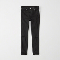 Ripped Super Skinny Ankle Jeans