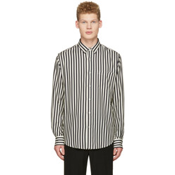 Off-White Striped Patch Pocket Shirt