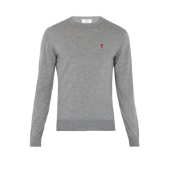De Coeur-Embroidered Wool Sweater
