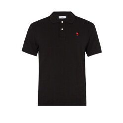 De Coeur-Embroidered Cotton Polo Shirt