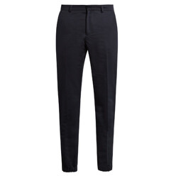 Cotton And Linen-Blend Trousers