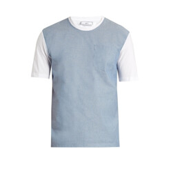 Bi-Colour Cotton-Poplin T-Shirt