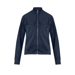 Zip-Through Track Top