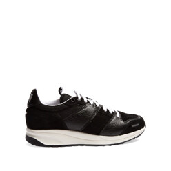 Low-Top Leather And Suede-Panelled Trainers