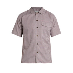 Short-Sleeved Checked Cotton Shirt