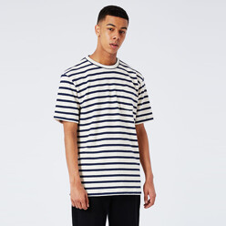 [Ltd] Stripe Oversized Towelling T-Shirt