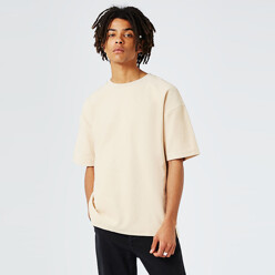 [Ltd]Off White Textured Oversized T-Shirt