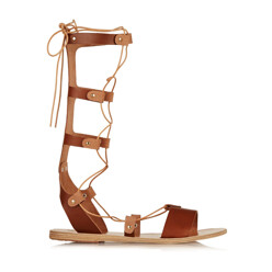Thebes Lace-Up Leather Sa...