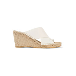 Suraya Leather Espadrille Wedge Sandals