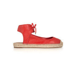 Isa Lace-Up Leather Espadrilles