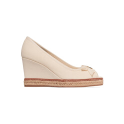 Jackie Canvas Wedge Sandals
