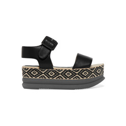 Talia Leather Espadrille Sandals
