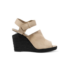 Tori Textured-Suede Espadrille Wedge Sandals