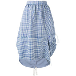 Checked Draped Skirt