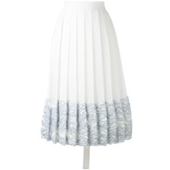 Textured Hem Pleated Skir...
