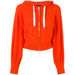 Cropped Zip Front Hoodie