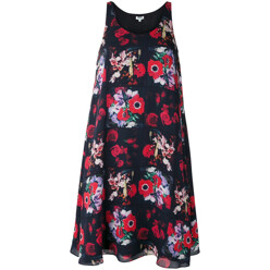 Flower Print Sleeveless D...