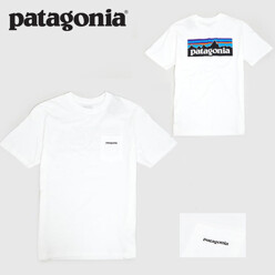 [포켓T]파타고니아 Patagonia P-6 Logo Pocket T-Shirt White