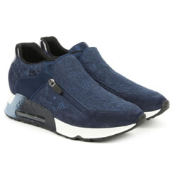Look Lace Navy Lace Suede Trainer