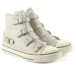 Virgin Bis Pearl Leather High Top Trainer