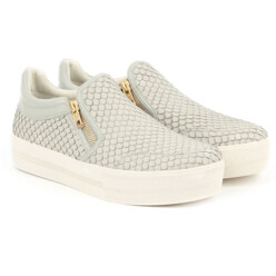 Jordy Marble Leather Reptile Chunky Sole Trainer
